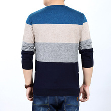 Men Striped Sweater Long Sleeve Pullover Sweaters Men's Clothing Pullovers Tops
