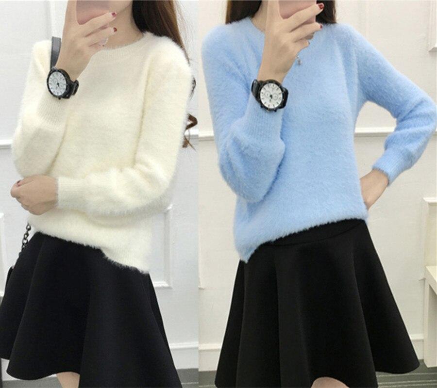Suéter de invierno muy cálido y suave suéter mujeres suéteres de cachemira de vi