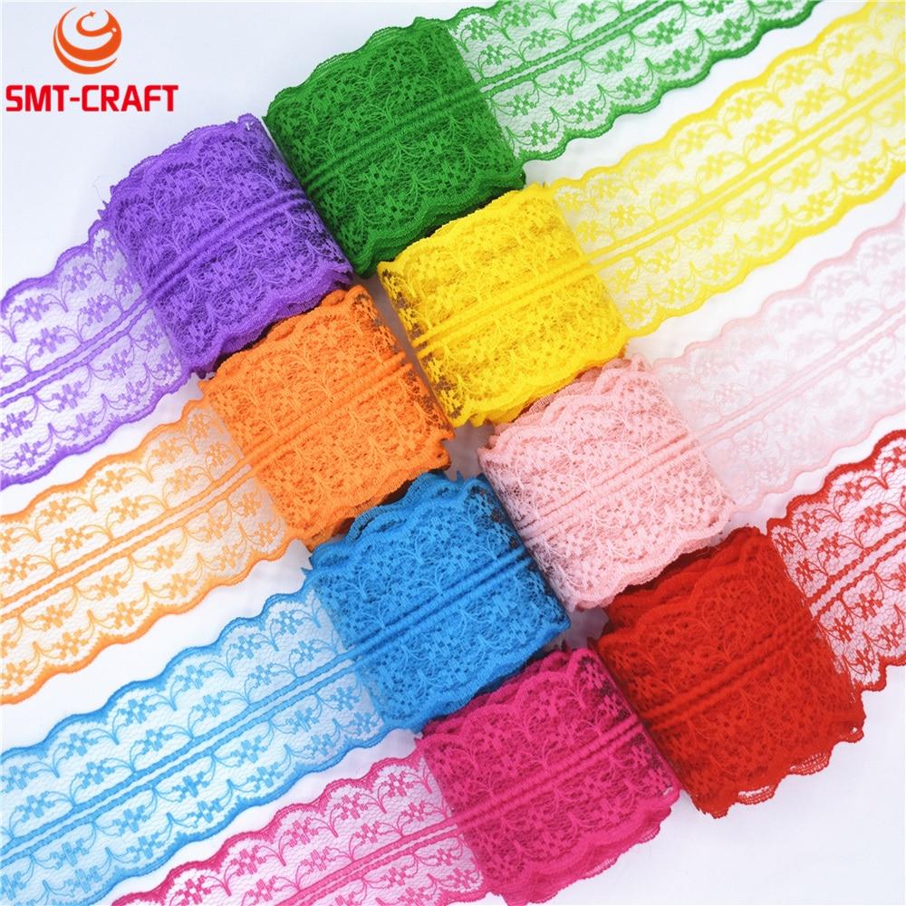 ᐃ10 yardas cinta del cordón 20mm ancho Trim tela DIY boda bordado ...
