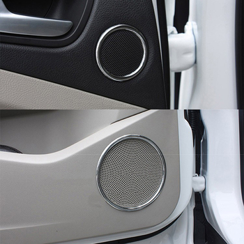 ABS Chrome For Ford C-MAX 2013 2014 2015-2017 accessories Car Door Audio Speaker Ring Frame Cover Trim Sticker Car styling 6pcs 2pcs abs chrome accessory door speaker frame trim 3d stickers for mercedes benz cla 200 220 260 w117 c117 car styling 2014 2017