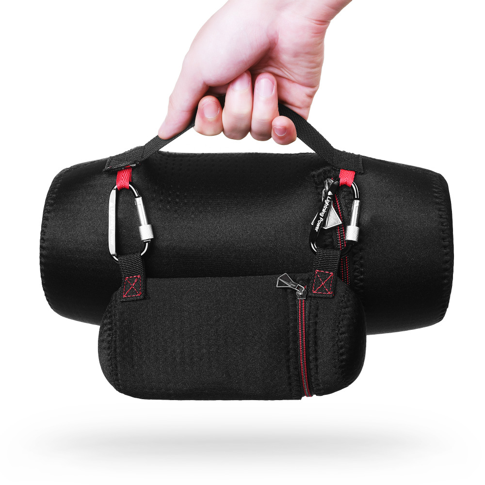 imágenes para Rusia Funda protectora Caso de la Cubierta Superior de LA PU Cubierta de La Caja Del Bolso para JBL Xtreme Altavoz Bluetooth (Con El mini adaptador de carga de la bolsa)