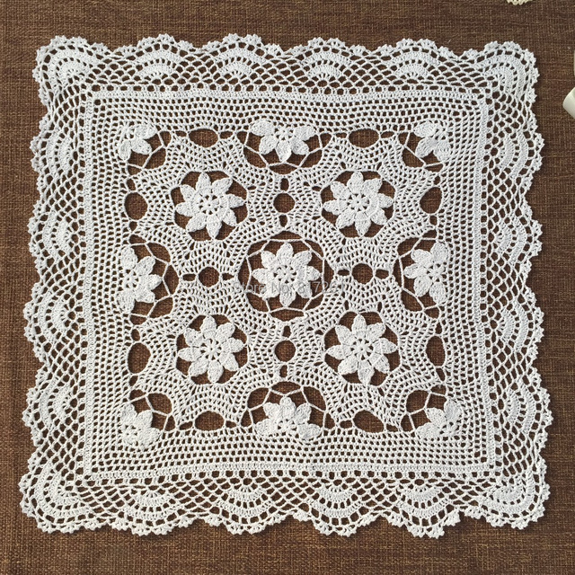 Delicieux ZAKKA 2015 New Fashion Cotton Crochet Lace Tablecloth For Wedding Napkins  Table Cover With Flower Square