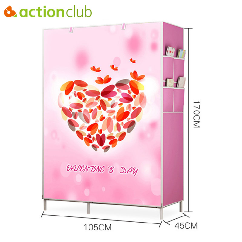 Actionclub Non Woven Wardrobe Folding Practical Cloth Cabinet Portable Clothes Storage Closet Clothes Organizer Wardrobe hot sale non woven assembled wardrobe closet clothes storage cabinet wardrobe modern bedroom furniture wardrobe closet