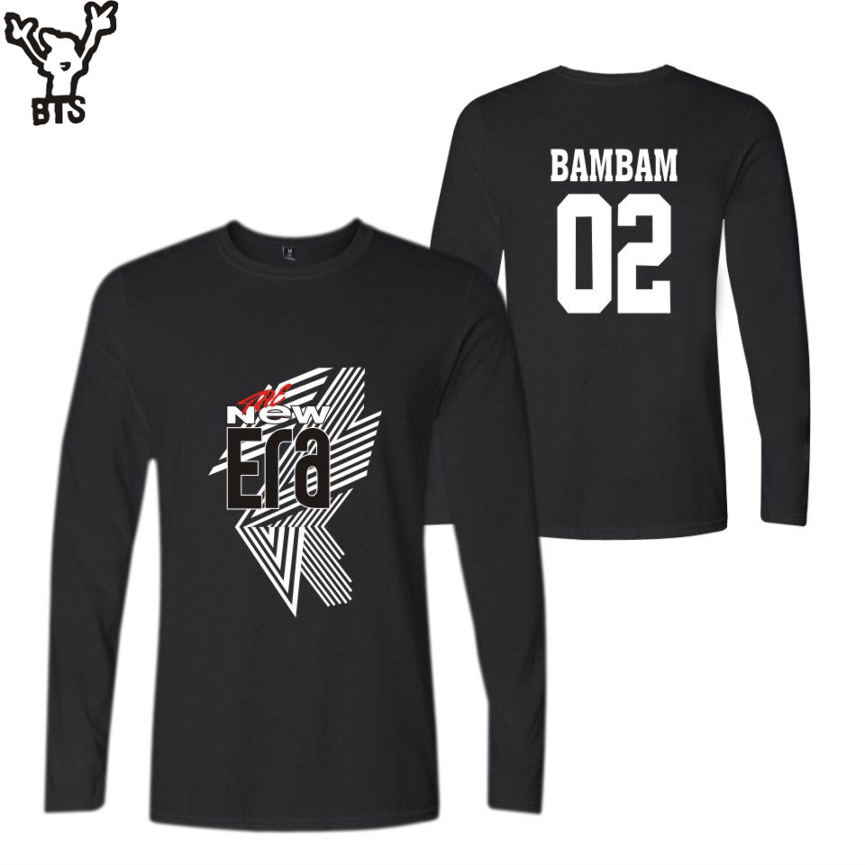 GOT7 FM 2018 The New Era Fashion Autumn Women BamBam 02 Long Tshirt Cool longsleeve Popular Warm Autumn T-shirt Men Cool A8080