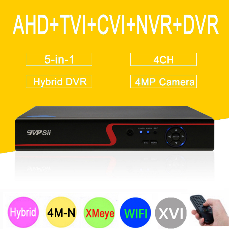 Three in one DVR 4 Channel 1080P/1080N/960P/ 720P/ 960H  Dahua Case Zhiyuan Chip NVR AHD-NH DVR Only Free Shipping To Russia