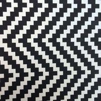 合成pvc黒と白スキューチェックプリント革素材
