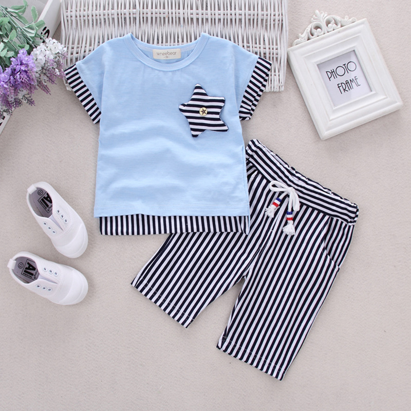 Baby Clothes For Boys Girls T-Shirt Shorts Suits Clothing Sets Summer For The School Kids Children's Clothing For Boys 3 4 Years 2017 summer girls clothing sets 2 colors chiffon plaid sleeveless shirt shorts suits baby girls princesas kids clothes 3 7t