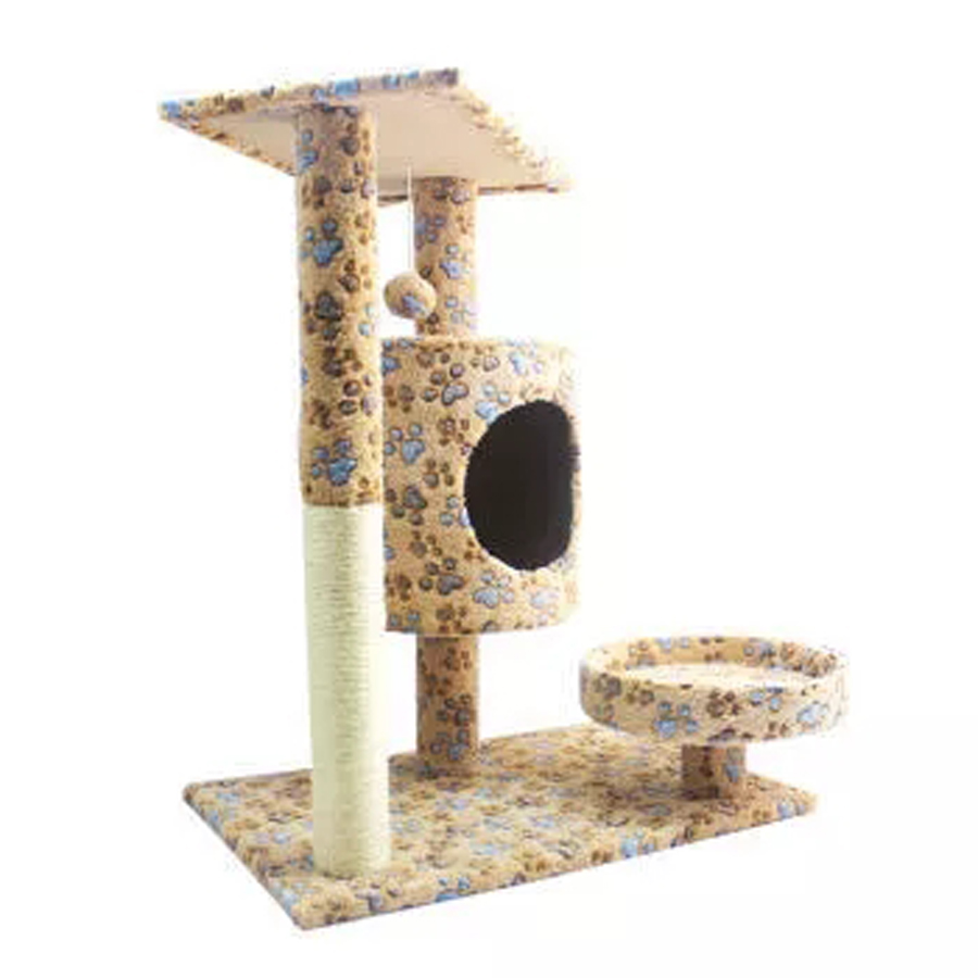 Comfortable Soft Durable Sturdy Pat Bad Wood Furniture Frames Scratching Posts Cat Tree Tower Climbing Pets Supplies 70Z1563