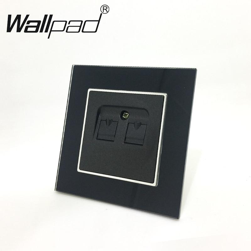 Elektrische Ausrüstungen & Supplies Coswall Rj11 2 Core Telefon Stecker Mit Weibliche Tv Jack Edelstahl Gebürstet Panel Wand Steckdose Steckdosen