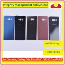 מקורי עבור Samsung Galaxy S8 + בתוספת G955 G955F SM G955 שיכון סוללה דלת אחורי חזרה זכוכית כיסוי מקרה פגז מארז