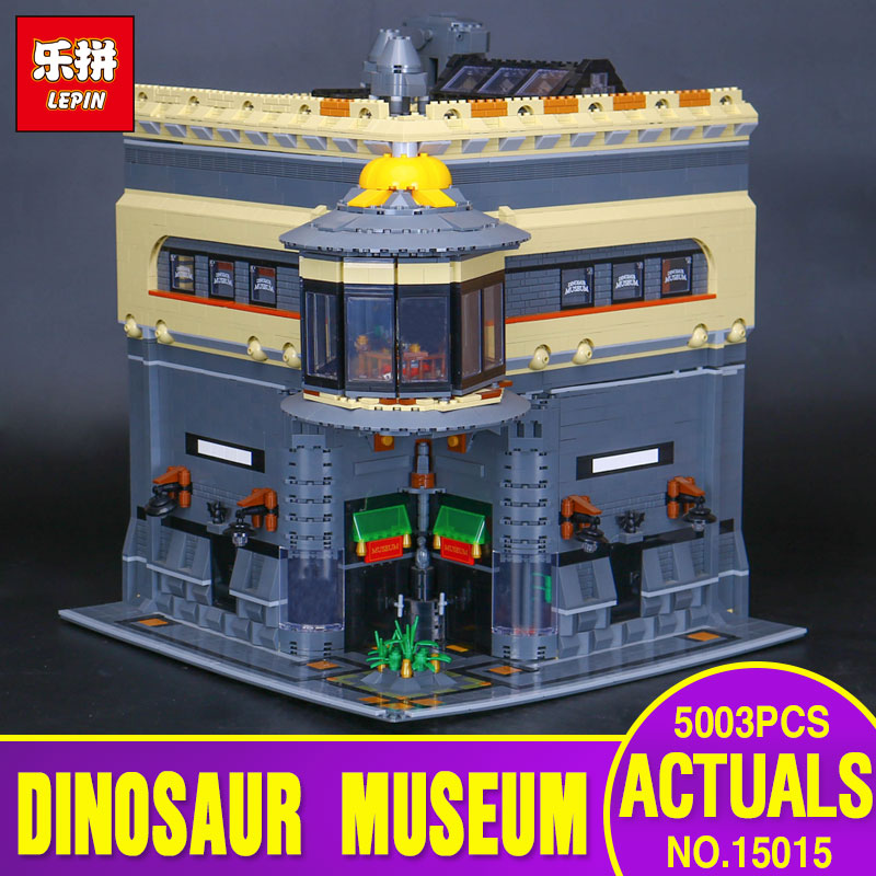 2017 New LEPIN 15015 5003pcs City The dinosaur museum Model Educational Building Kits Brick Toy Compatible Toys Children Gift new lepin 16008 cinderella princess castle city model building block kid educational toys for children gift compatible 71040