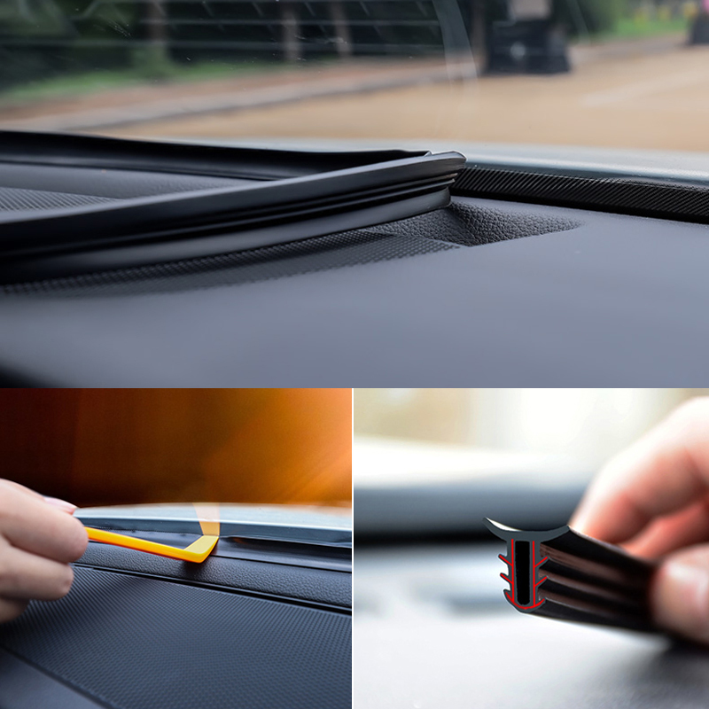Car Stickers Dashboard Sealing Strips Auto Interior <font><b>Accessories</b></font> For Volkswagen Golf 4 5 7 6 <font><b>Honda</b></font> <font><b>Civic</b></font> Accord Chevrolet Cruze image