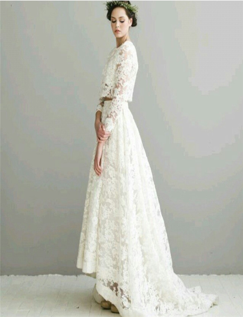 gorgeous lace long sleeve mermaid wedding dress long train veil wedding dress long sleeve Gorgeous Lace Long Sleeve Mermaid Wedding Dress Long Train with veil