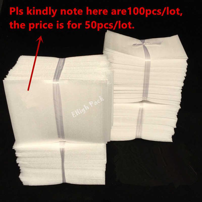 """8*10 ס""""מ (3.15*3.94 inch) 0.5 מ""""מ 50 יחידות מגן גיליון קצף בידוד קצף EPE שקיות אריזת ריפוד חומר אריזה"""