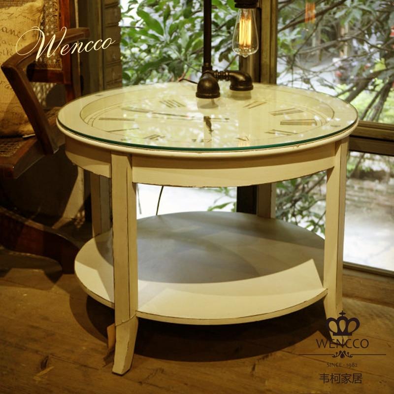 Coffee Table Simple Modern Creative Small Coffee Table: Nordic IKEA Simple European Modern Circular Clock Coffee