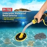 Handheld Underwater Metal Detector Gold Coin Treasure Search Vibration Light Alarm Pulse Induction Waterproof Metal Detector