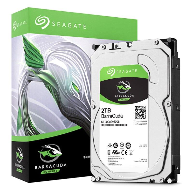 Seagate 2 TB escritorio HDD disco duro interno Original 3,5 ''2 TB 7200 RPM SATA 6 Gb/s dura para computadoras ST2000DM008