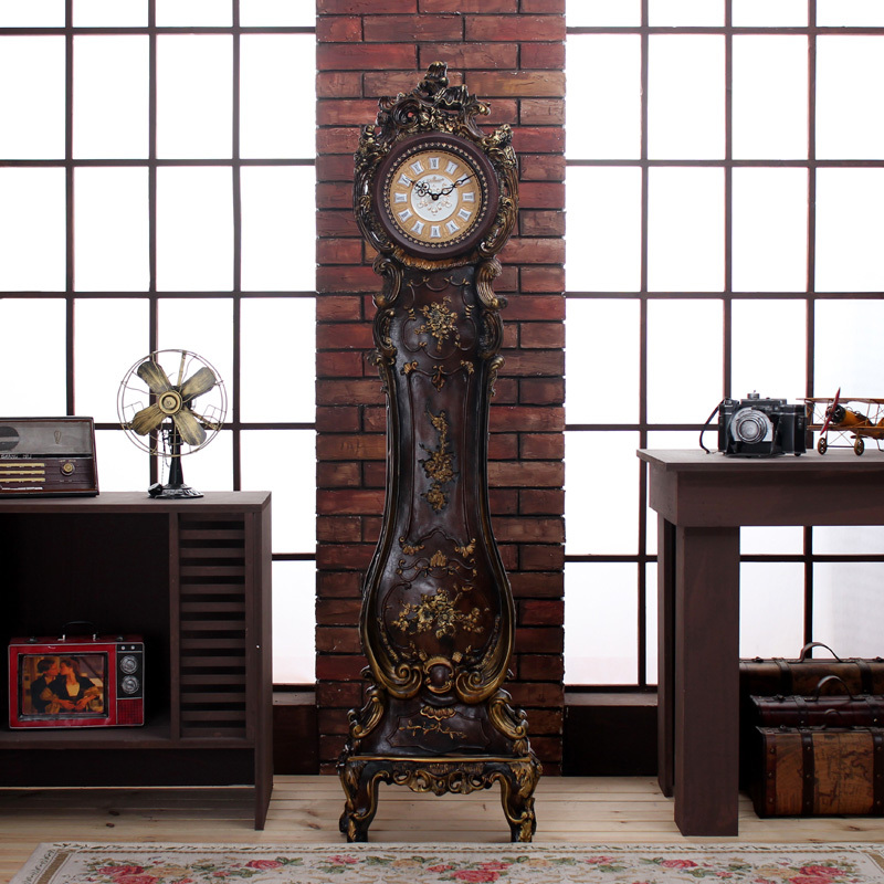 kassel clock double sided with wrought iron quartz floor moveme pin floors