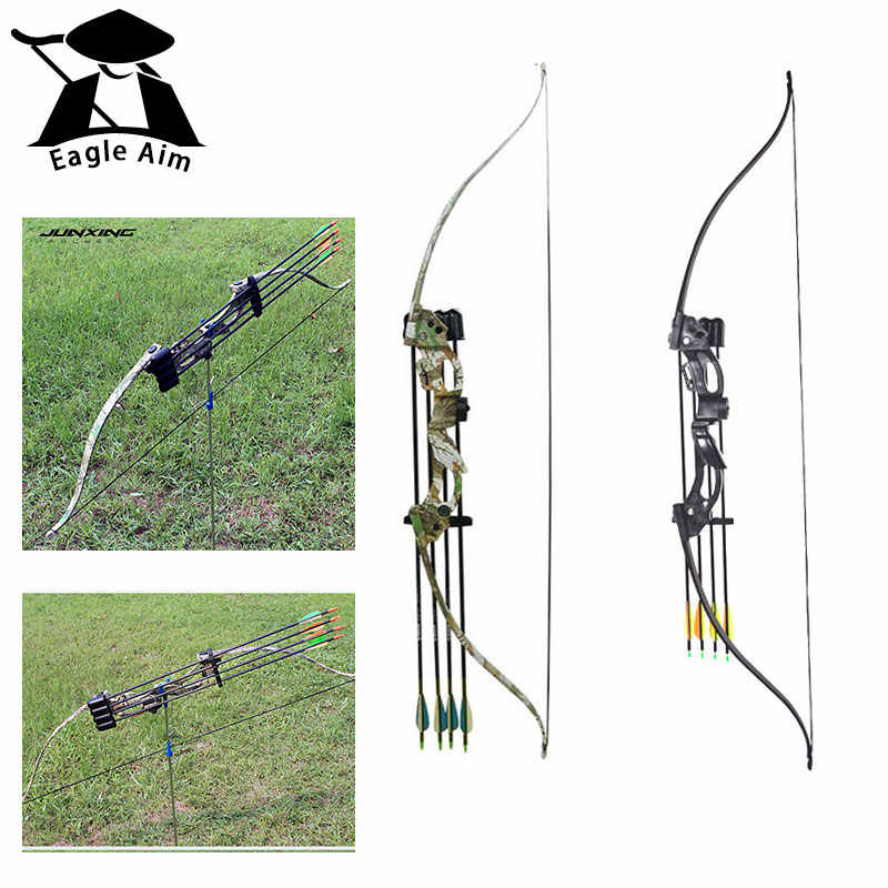 Hunting 18Lbs Recurve Bow 42Inches Takedown Bow for Right Hand/Left