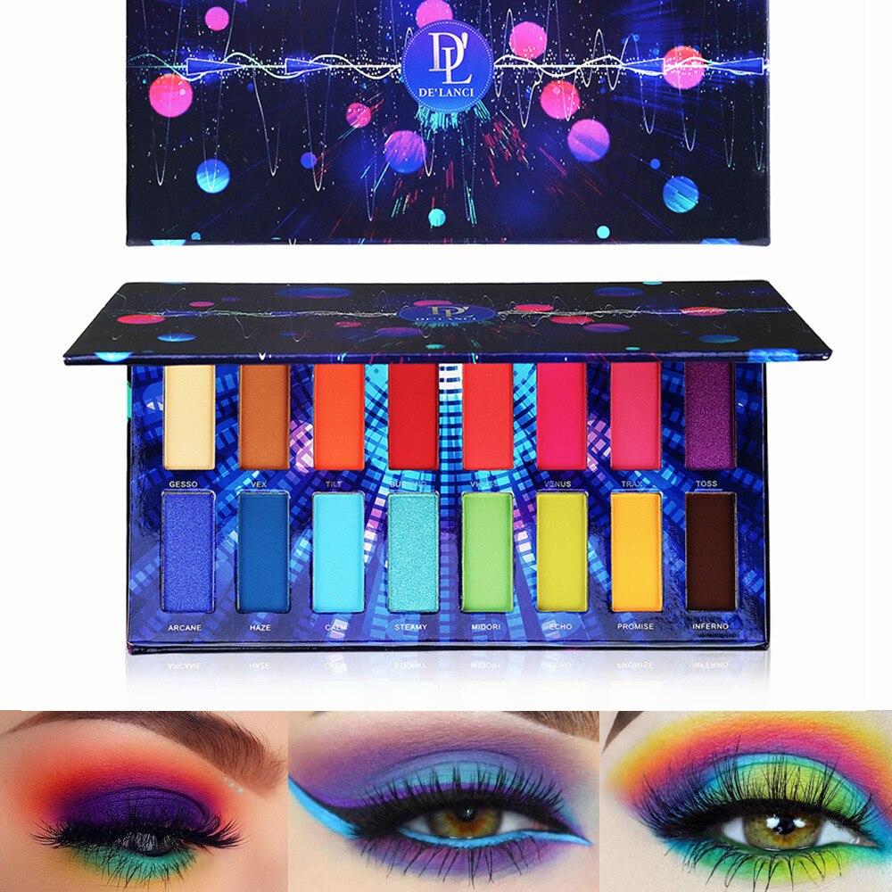DE'LANCI 16 Color Pigment Eyeshadow Palette Shimmer Matte Eye shadow Powder Beauty Product