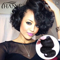 One Piece Only 50g/Bundle Short Size 8Inch Brazilian Virgin Hair Body wave Human Hair Extension 100% Human Hair Weave Hanne hair