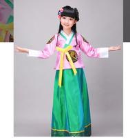 Sıcak Satış Hanbok kız Çocuk Hanbok Azınlık dans elbise Ücretsiz Nakliye