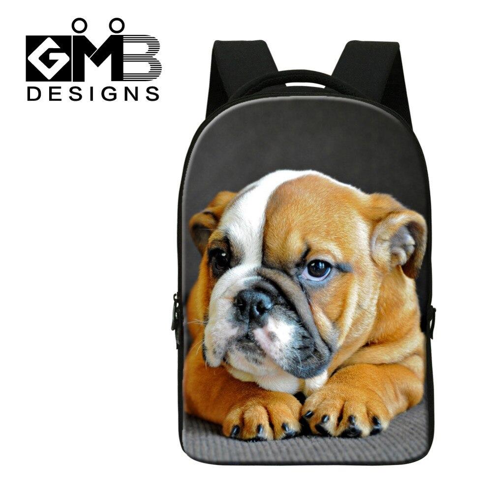ФОТО Dispalang Cute Dog Computer Backpack For Teenager Animal 3D Print Laptop School Bags For Children Tourism Shoulder Book Bag