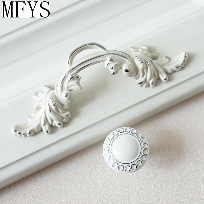 2 5 shabby chic dresser pulls handle drawer knob white silver rh aliexpress com