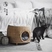 Cat litter rattan cat room cat villa pet dog nest small dog Teddy cat sharing coffee table four seasons universal