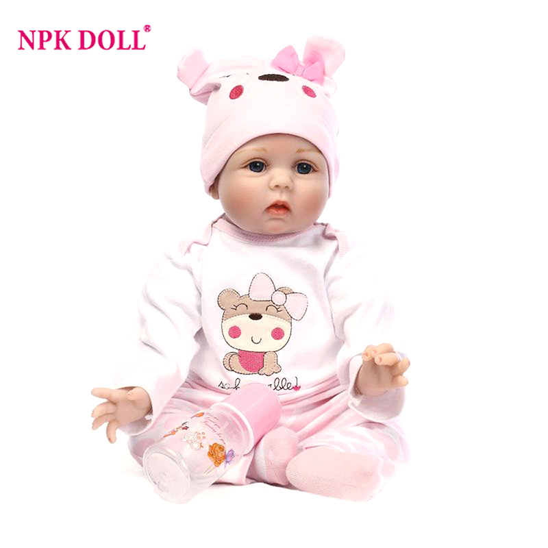 22 55cm Alive Reborn Dolls Handmade Silicone Baby Girls Doll Realistic Vinyl Girl Simulation Dolls for Children's Kid Toys Gift