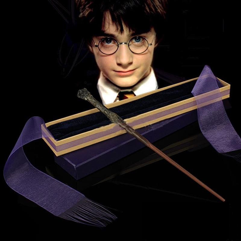 juguetes Colsplay nueva ojos a diamantes Marquesa clavos joyería accesorios mujeres Consejos de Bricolaje uñas Hermione varita Harry Potter magia varita mágica Dumbledore Snape elegante cinta de la caja de regalo