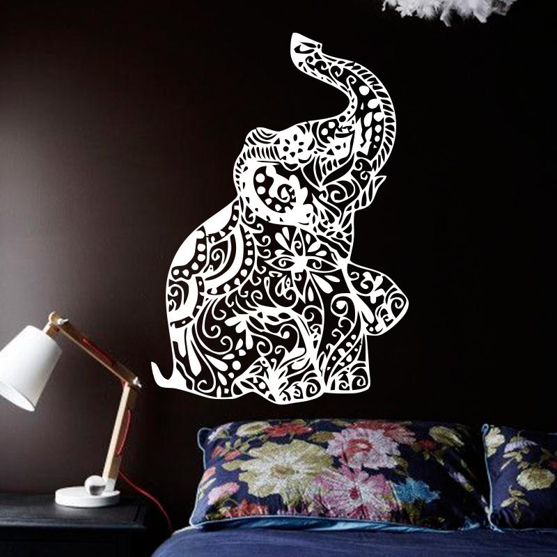 New design cheap home decoration vinyl art flower elephant for New design home decoration