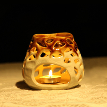 1 Piece Ceramic Hollow Mesh Pattern Candle Aromatherapy Furnace Essencial Oil Heater  Incense Burner