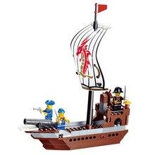New Arrival DIY PIRATES Pirate ship Super Brave Enlighten Construction Brick Building Blocks Toys scale models playmobil