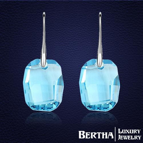 Elegante de luxo para mulheres com Swarovski Elements cristal austríaco brincos de alta qualidade