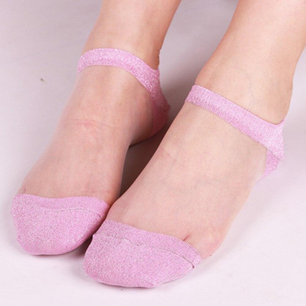 2f33163523f09 Woman socks popsocket Summer Sheer Silky Glitter Transparent Short Ankle  Socks slippers for women-in Sock Slippers from Women's Clothing &  Accessories on ...