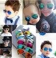 Новый прохладный мода детские дети для детей девушки мальчика солнцезащитные очки металлический каркас для детей очки