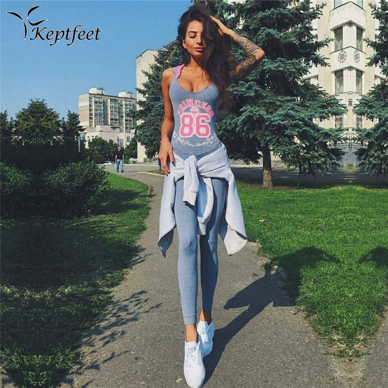Letter Print Yoga Pants Set Gym Fitness Tight Jumpsuit Workout Sleeveless Slim Elastic Patchwork Sport Suit Women with Hooded letter print raglan hoodie
