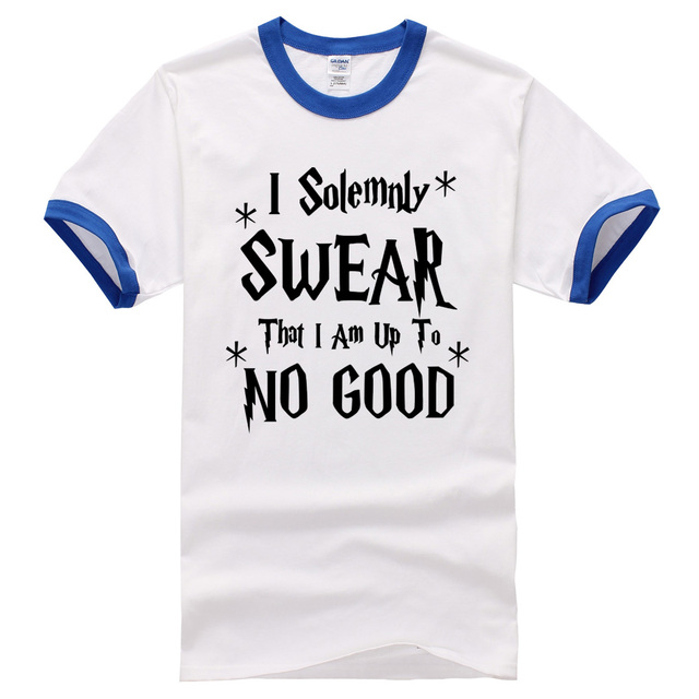 785211fea I Solemnly Swear That I Am Up To No Good T-Shirt funny hip hop shirt brand  clothing male 2017 summer t shirts new fashion Men's