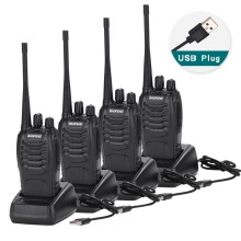 4Pcs Baofeng BF-888S Walkie Talkie USB charge adapter Portable Radio C