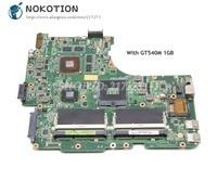 NOKOTION placa base de Computadora Portátil para Asus N53S N53SV N53SN Tablero Principal REV 2 1 HM65 DDR3 GT540M 1GB