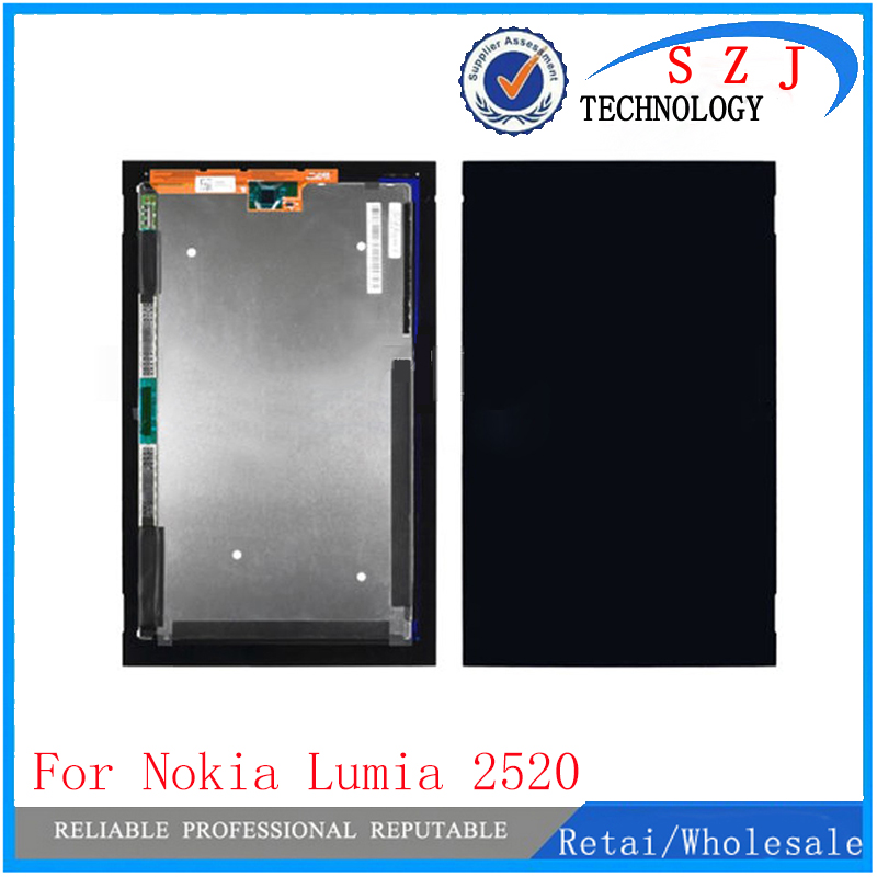 New 10.1'' inch Tablet PC For Nokia Lumia 2520 LCD Display Panel Screen+Touch Digitizer Glass Screen Assembly Part Free Shipping 5 0 for nokia lumia 535 2s1973 and 2c1607 version full lcd display with touch screen digitizer assembly complete frame black