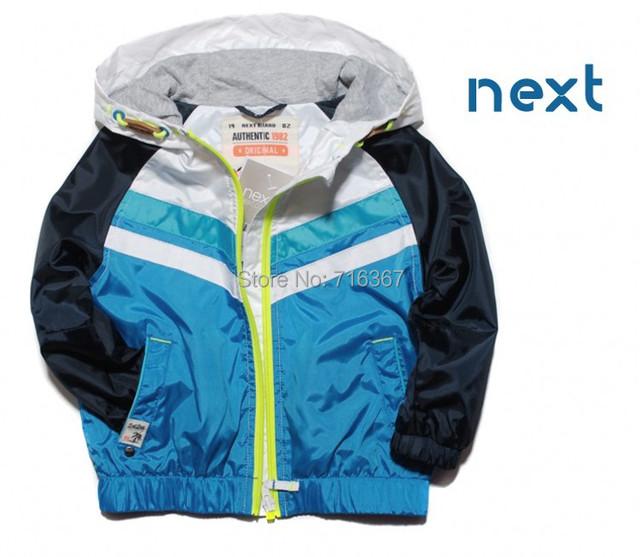 Envío Libre-la próxima hansome bebé verano de los muchachos/chaqueta de primavera, bebé niños chaqueta con capucha, capa impermeable y cortavientos (MOQ: 1 unid)