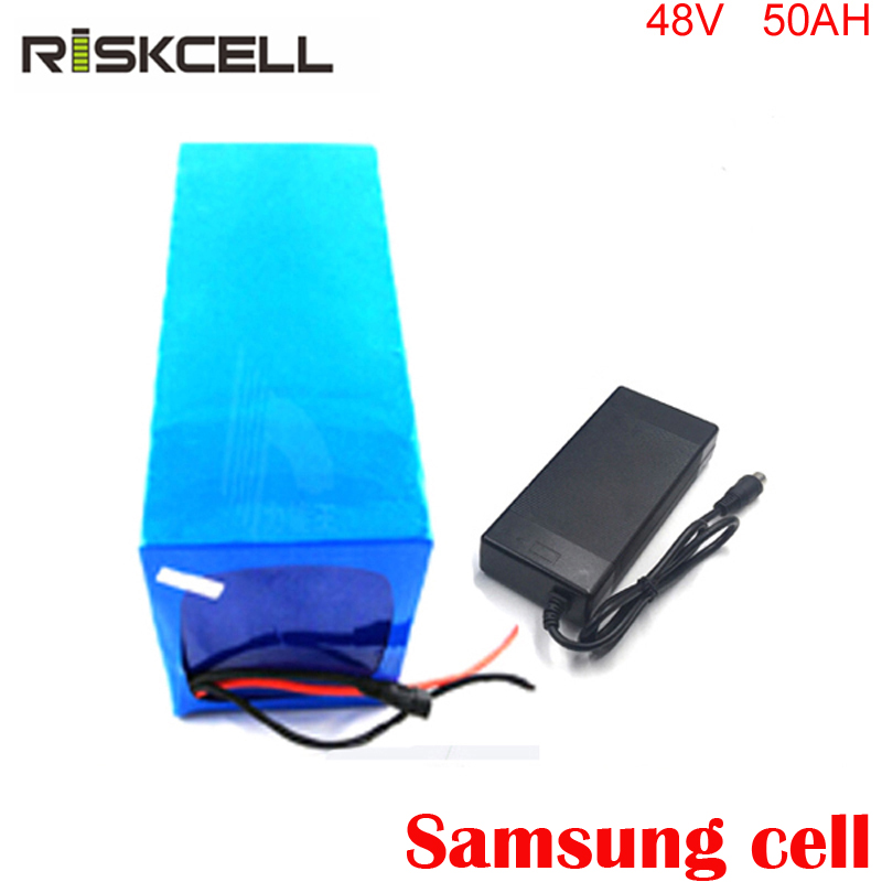 electric bike battery 48v 50ah lithium ion battery 48v 2000w electric bicycle battery for kit electric bike For Samsung cell