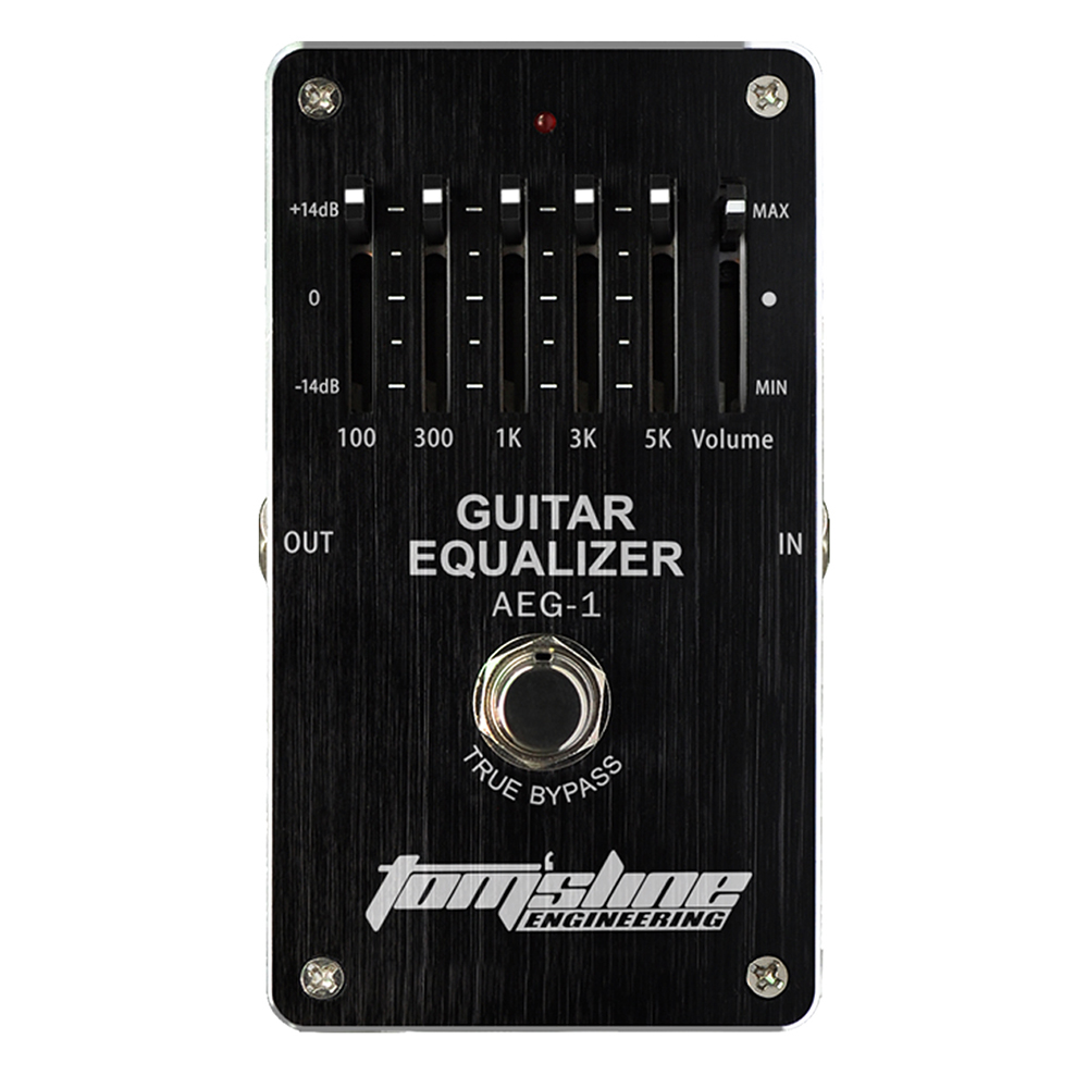 Aroma Guitar Equalizer Electric Guitar Effect Pedal AEG-1 Volume 5-band Adjustable Low Power Quiet IC Chip aroma aeg 3 gt eqanalogue 5 band equalizer guitar effect pedal mini volume with true bypass volume control guitar parts