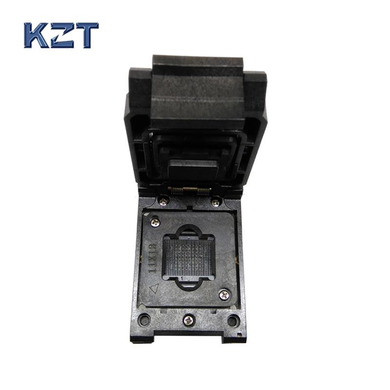BGA64 1.0MM Burn in Socket IC size 11*13 mm/BGA64 IC Test Socket / FBGA64 burning socket superpro5000 5004 private cx5004 burning fbga64 adapter test