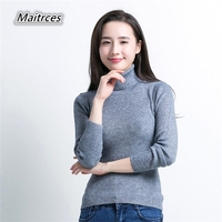 Thick Turtleneck Warm Women Sweater Autumn Winter Knitted Femme Pull High Elasticity Soft Female Pullovers Sweater MX019
