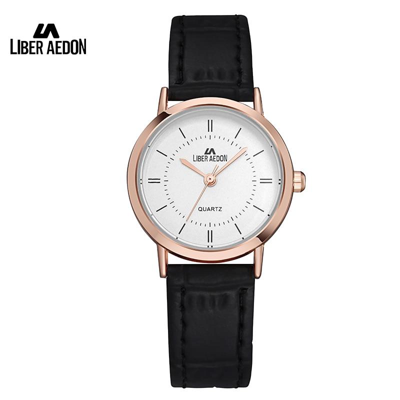 Liber Aedon Fashion Dress Women Watch Leather Watchband Sport Quartz Ladies Wristwatch 30M Waterproof Simple Female Watch Clock антисептик dali универсальный 0 6 л