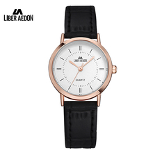 Liber Aedon Fashion Dress Women Watch Leather Watchband Sport Quartz Ladies Wristwatch 30M Waterproof Simple Female Watch Clock