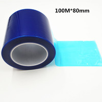 PVC plating blue tape with high temperature Naisuan Jian protective film LCD maintenance tape Blue film tape 100M * 80mm